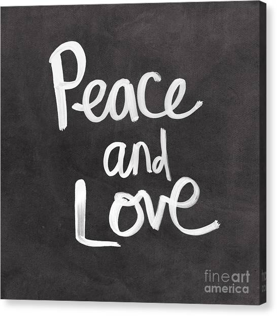 Dad Canvas Print - Peace And Love by Linda Woods