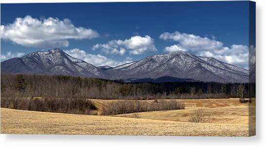 Peaks Of Otter Mountains Canvas Print