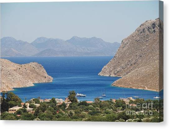 Pedi Bay Symi Canvas Print