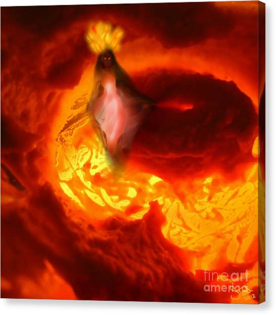 Pele Goddess Of Fire And Volcanoes Canvas Print