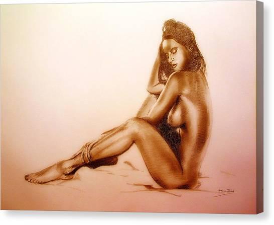 Pencil Nude Canvas Print