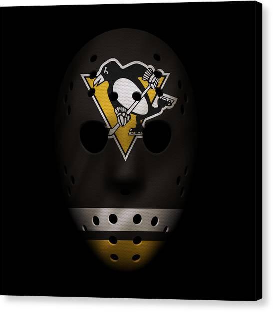 Pittsburgh Penguins Canvas Print - Penguins Jersey Mask by Joe Hamilton