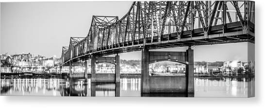 American Steel Canvas Print - Peoria Illinois Bridge Panoramic Picture by Paul Velgos