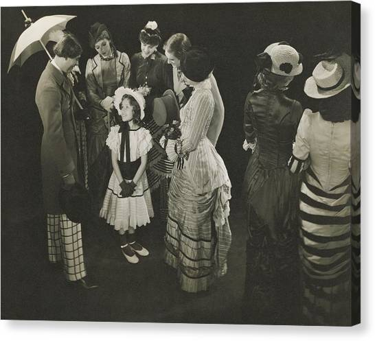 Performance Of As Thousands Cheer Canvas Print by Edward Steichen