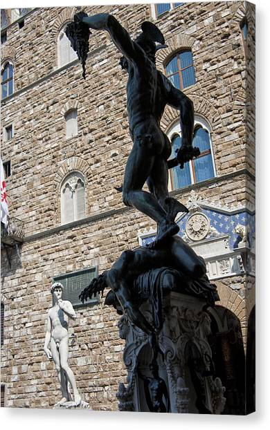 The Uffizi Gallery Canvas Print - Perseus By Cellini by Melany Sarafis
