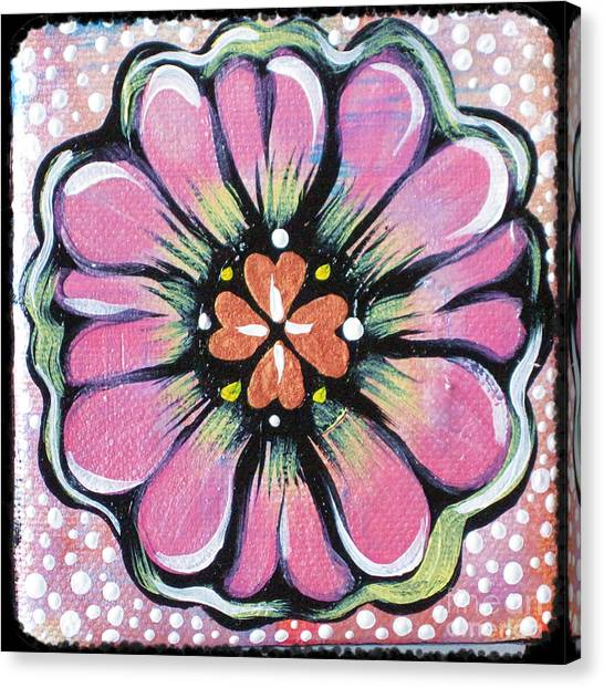 Dots Canvas Print - Petit Flower by Shadia Derbyshire