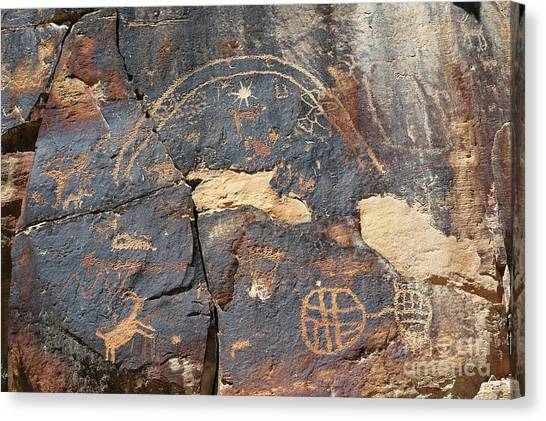 547p Petroglyph - Nine Mile Canyon Canvas Print