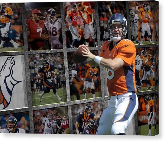 Peyton Manning Canvas Print - Peyton Manning Denver Broncos by Joe Hamilton