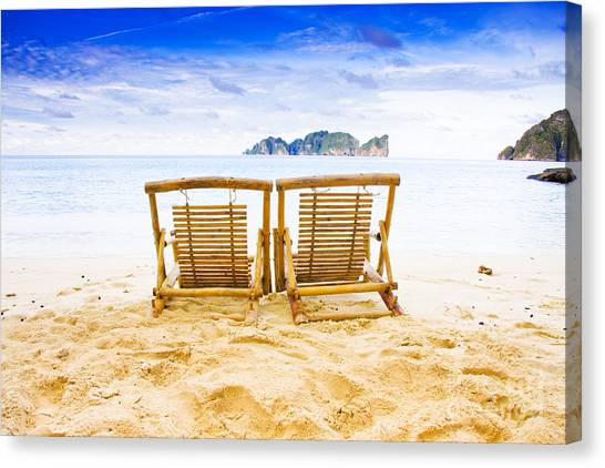 Sandy Desert Canvas Print - Phi Phi Island Thailand by Jorgo Photography - Wall Art Gallery