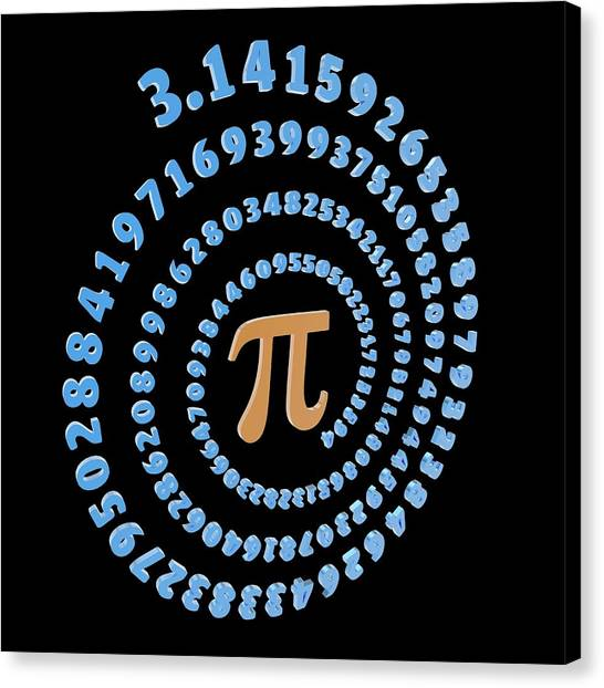 Irrational Canvas Print - Pi Symbol And Number by Alfred Pasieka