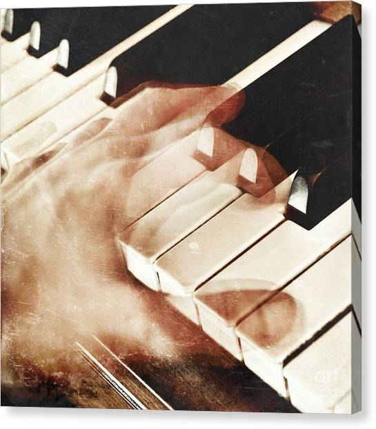 Pianos Canvas Print - Piano by HD Connelly