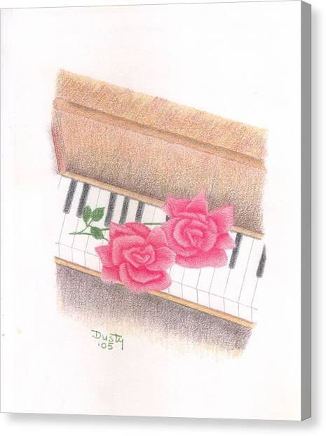 Piano Pinks Canvas Print by Dusty Reed