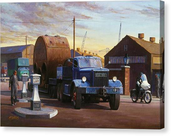 Factory Canvas Print - Pickfords Diamond T by Mike Jeffries