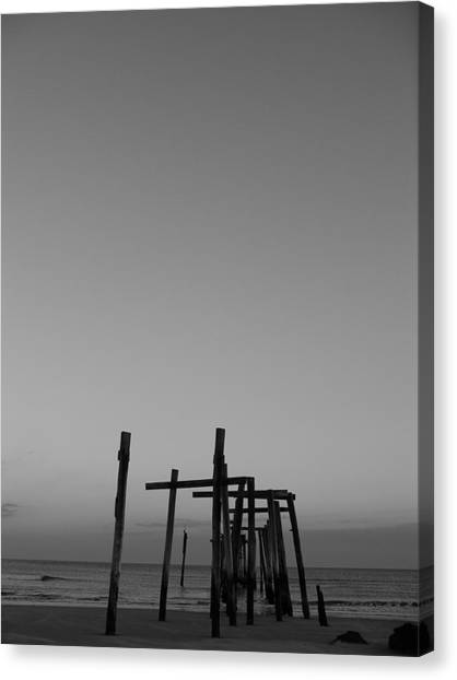 Pier Portrait Canvas Print