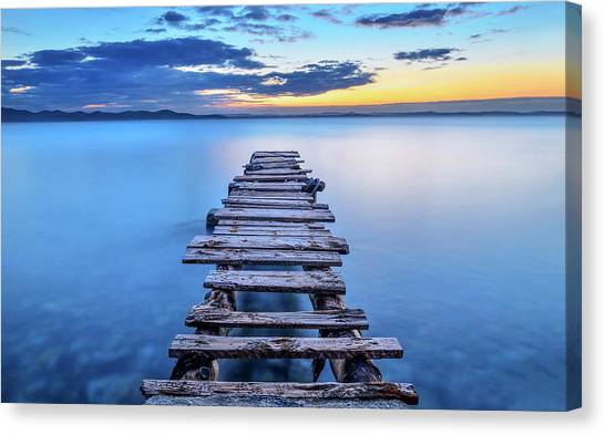 Pier Canvas Print - Pier by Srecko Jubic