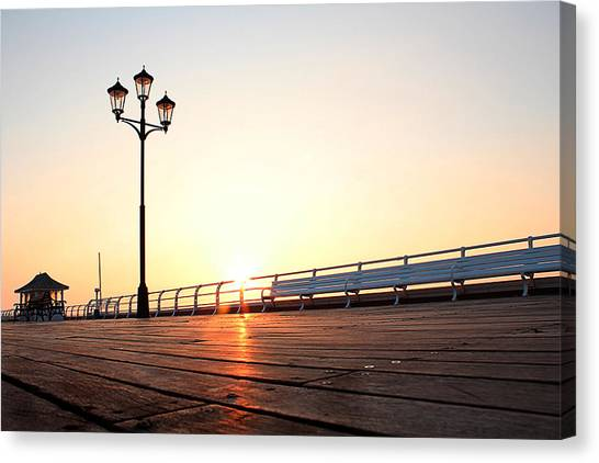 Pier Sunrise Canvas Print