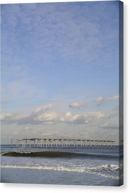 Pier Wave Canvas Print