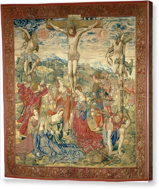 Dye Canvas Print - Pieter Pannemaker I After Bernard Van Orley by Quint Lox
