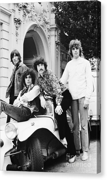 Chris Walter Canvas Print - Pink Floyd 1967 by Chris Walter