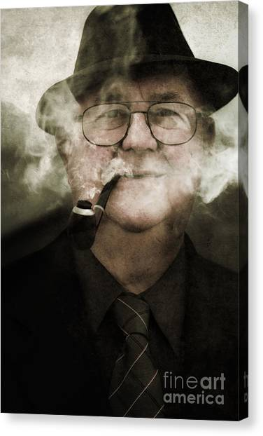 Murky Canvas Print - Pipe Dream Of A Crime Scene Investigator by Jorgo Photography - Wall Art Gallery