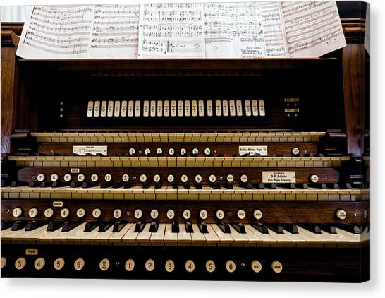 Keypad Canvas Print - Pipe Organ Console, The Temple by Panoramic Images