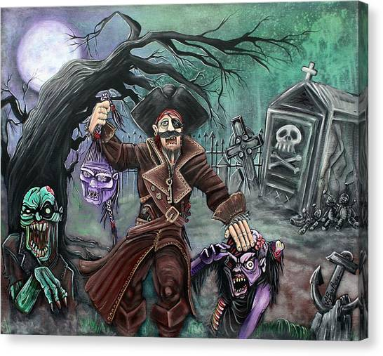 Pirate's Graveyard Canvas Print by Laura Barbosa