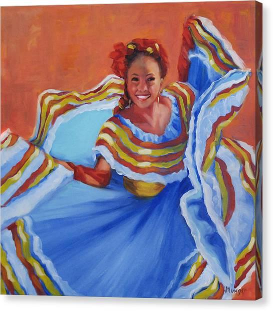 Dance Canvas Print - Pirueta Azul  by Roseann Munger