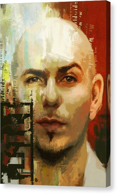 Pitbulls Canvas Print - Pitbull by Corporate Art Task Force