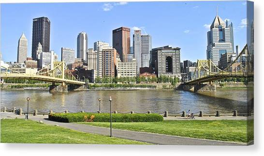 Ohio Valley Canvas Print - Pittsburgh Pa by Frozen in Time Fine Art Photography