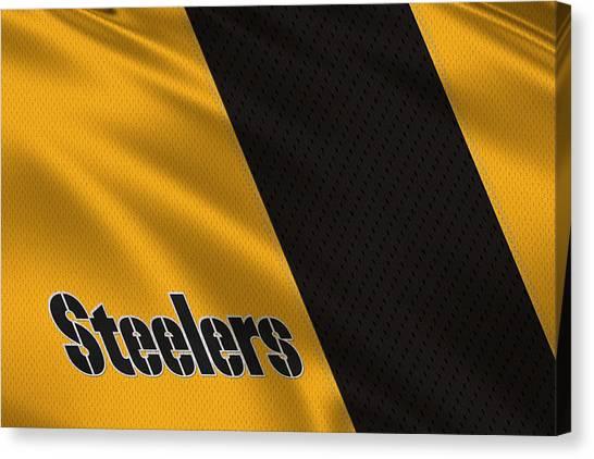 Pittsburgh Steelers Canvas Print - Pittsburgh Steelers Uniform by Joe Hamilton