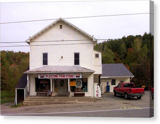 Canvas Print featuring the photograph Pleezing Authorized Food Store by R B Harper