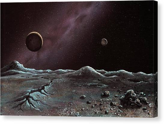 Pluto Canvas Print - Pluto And Charon From Styx by Richard Bizley