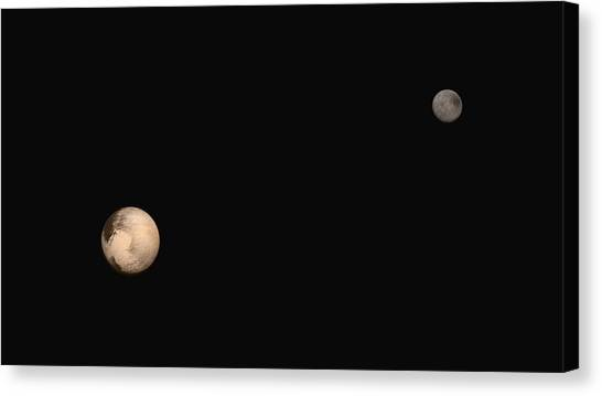 Pluto Canvas Print - Pluto And Charon by Nasa/jhuapl/swri