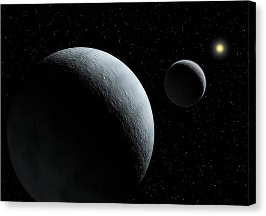 Pluto Canvas Print - Pluto-charon System by European Southern Observatory