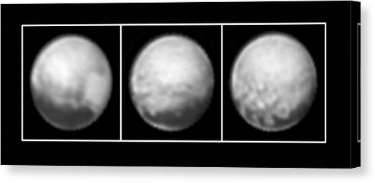 Pluto Canvas Print - Pluto by Nasa/johns Hopkins University Applied Physics Laboratory/southwest Research Institute