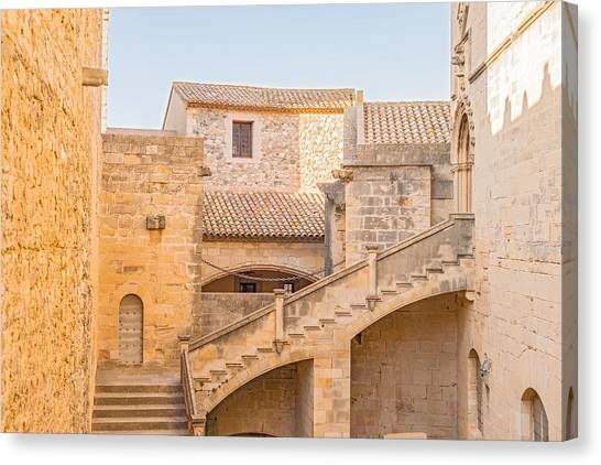 Poblet Monastery Near Barcelona In Catalonia Spain Canvas Print