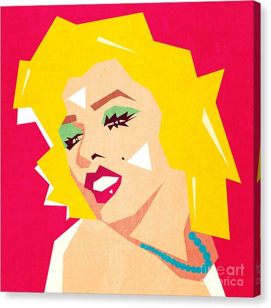 Lady Canvas Print - Pop Art  by Mark Ashkenazi