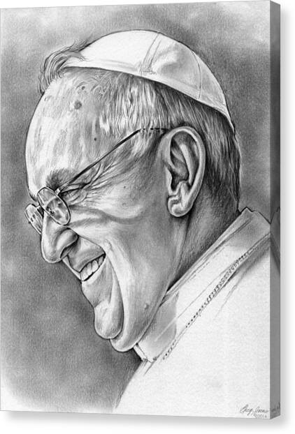 Catholic Canvas Print - Pope Francis by Greg Joens