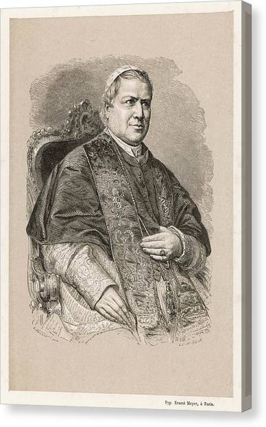 Pope Pius Ix (conde Giovanni Maria Canvas Print by Mary Evans Picture Library