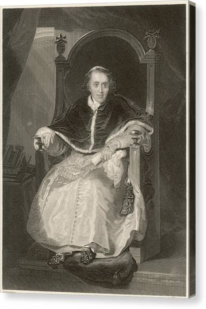 Pope Pius Vii (luigi Barnabo Canvas Print by Mary Evans Picture Library