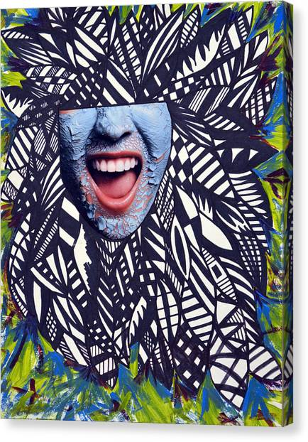 Porcelain Scream  Canvas Print by Leah Chyma