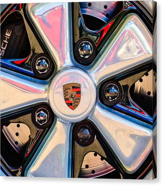 Porsche Wheel Rim Emblem Canvas Print