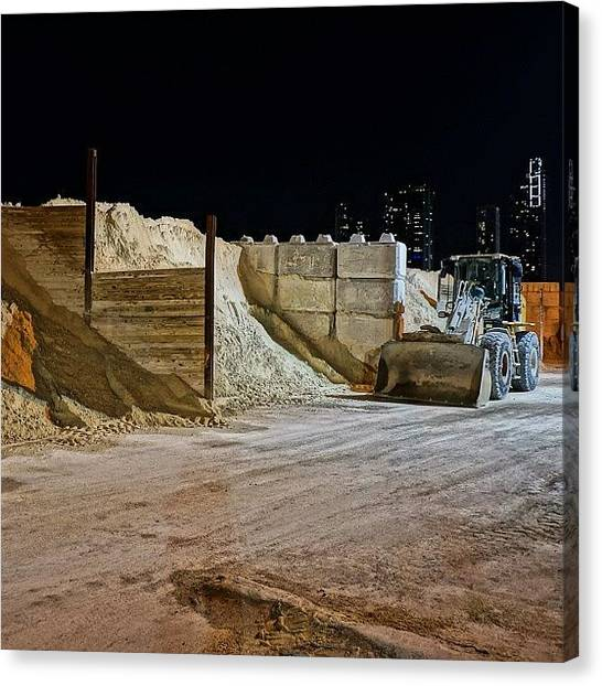 Industrial Canvas Print - Port Of Miami Tunnel Project by Joel Lopez