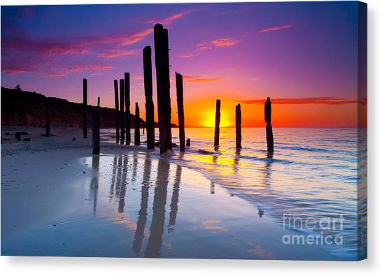 Port Willunga Sunset Canvas Print