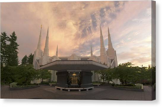 Portland Temple Canvas Print
