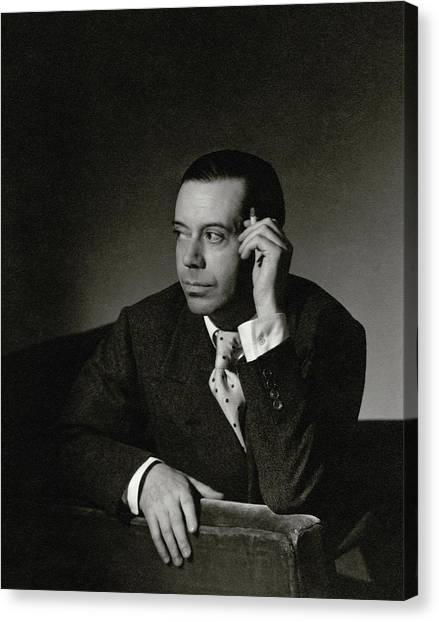 Portrait Of Cole Porter Canvas Print