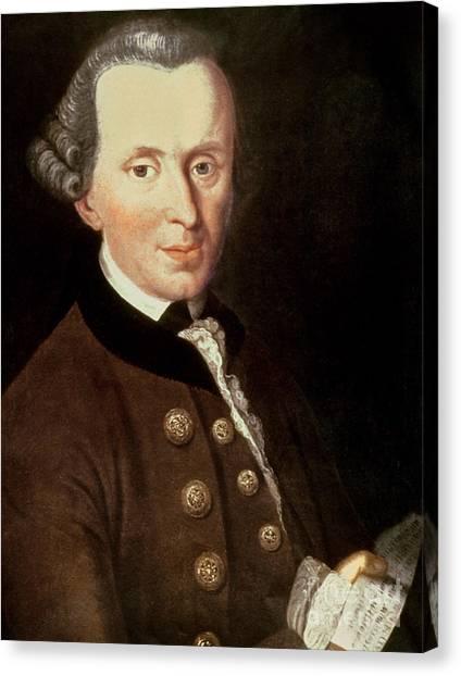 Academic Art Canvas Print - Portrait Of Emmanuel Kant by German School