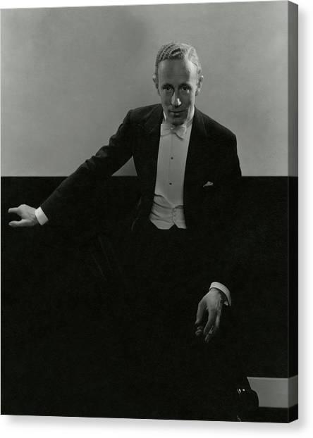 Portrait Of Leslie Howard Canvas Print