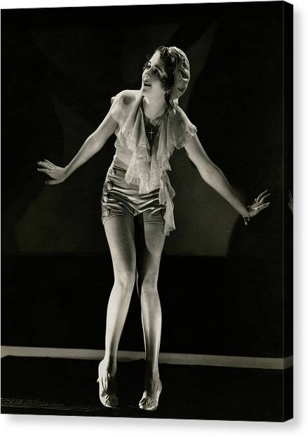 Arms Outstretched Canvas Print - Portrait Of Ruby Keeler by Edward Steichen