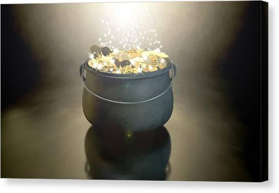 Crocks Canvas Print - Pot Of Gold by Allan Swart